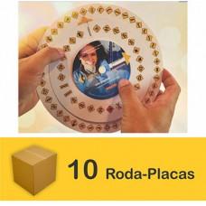 Pacote com 10 Roda Placas