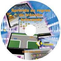 Pacote com 10 CD-ROM de Jogos para Trânsito