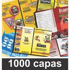 Pacote de 1000 capas e contracapas para personalização (R$ 0,65 cada capa)